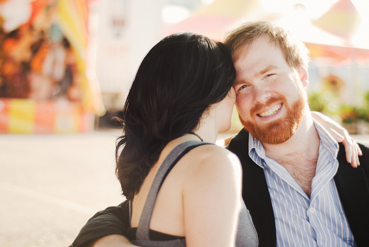 DC engagement photography man laughing