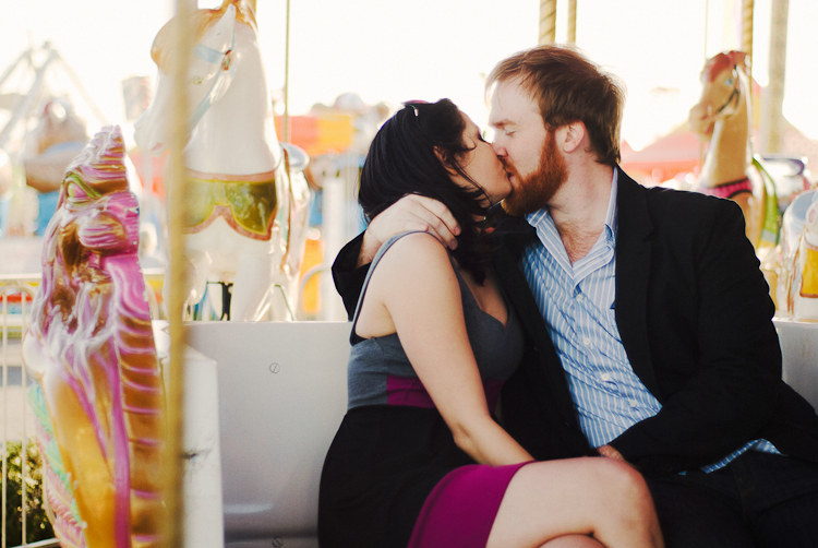 kissing on a merry go round