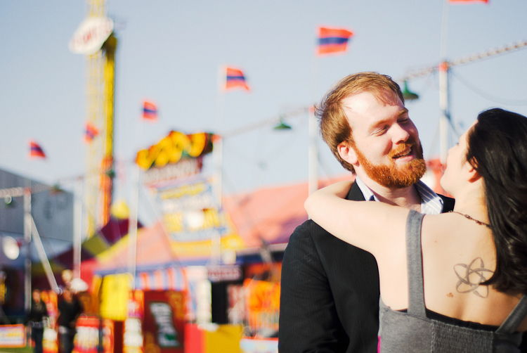 engagement session at fair