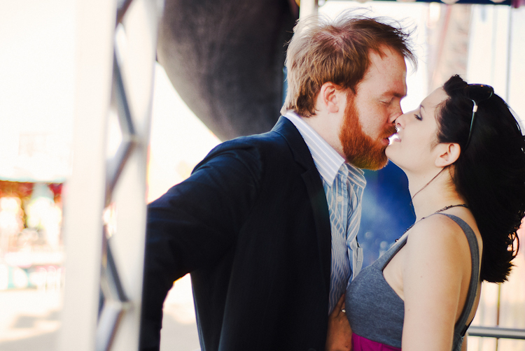 engagement session house of mirrors
