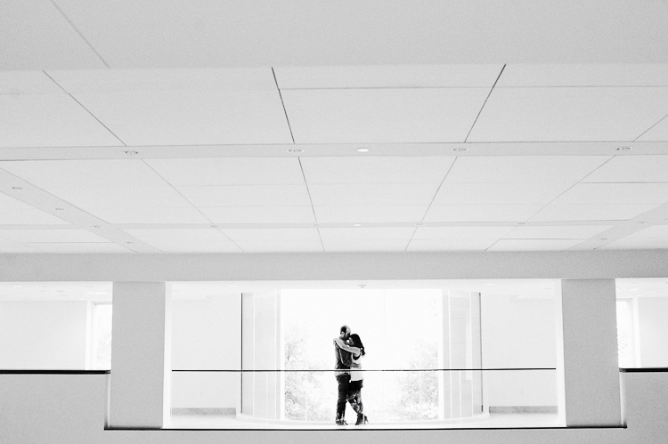 black and white minimalist engagement session