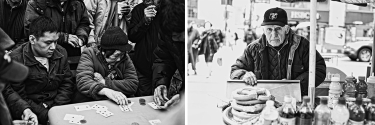 black and white street photography NYC