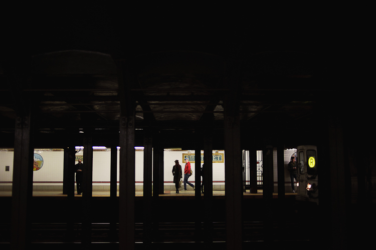 subway silhouette in NYC