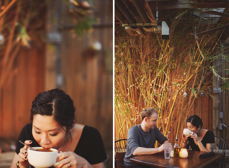 cute cafe engagement session
