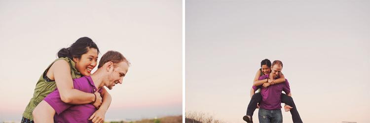 piggyback engagement photos