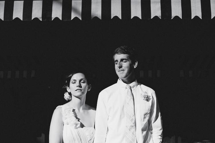 black and white striped modern wedding