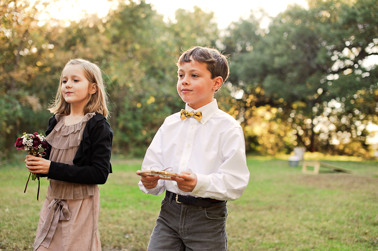 flowergirl and ring bearer at mercury hall