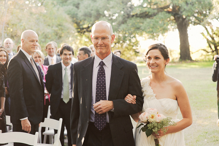 dc wedding photography father walking bride down aisle