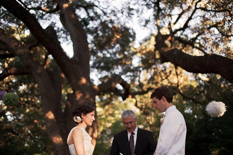 beautiful treelit ceremony dc weddings