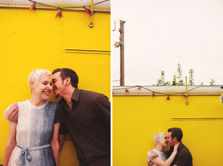 yellow engagement pictures