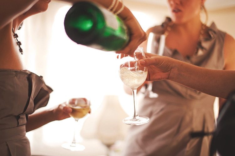 champagne at wedding washington dc