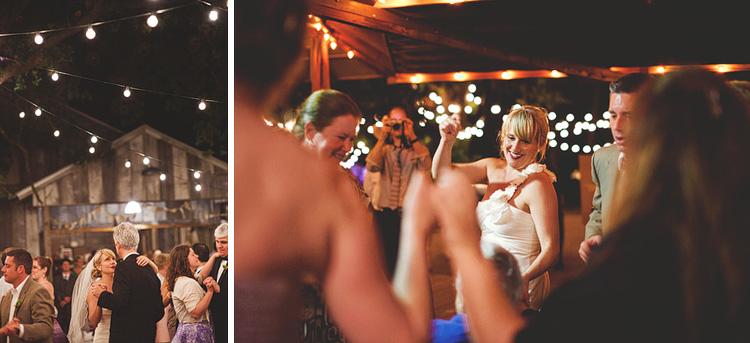 bride dancing at night