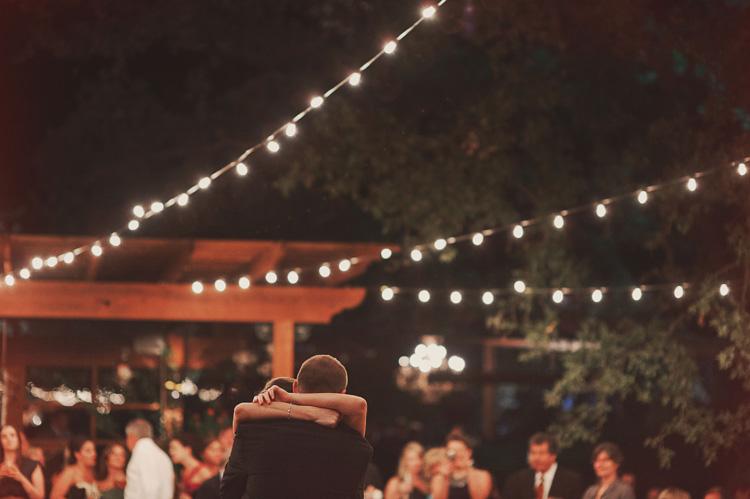 romantic italian string lights wedding reception