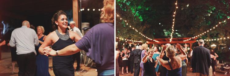 dancing outside at wedding