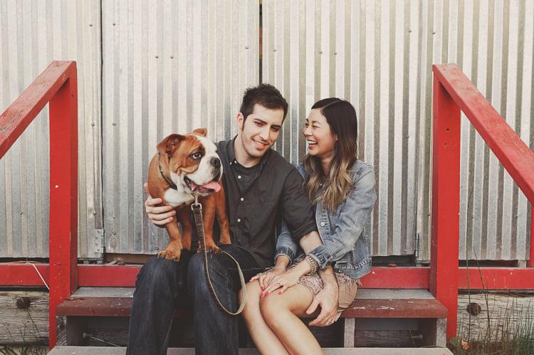 cute dog engagement session pictures washington dc