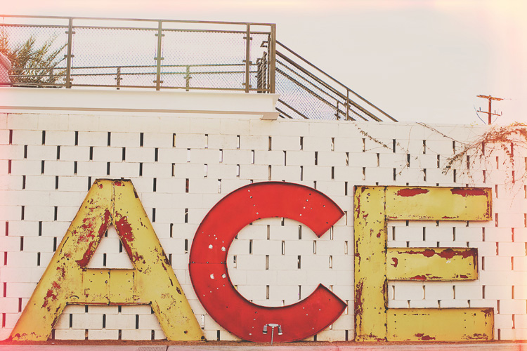 ace hotel photography sign