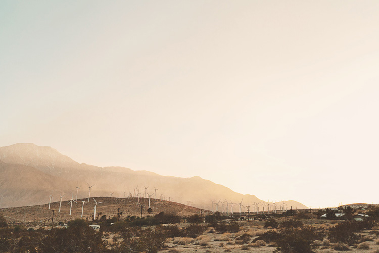 windmills in california countryside
