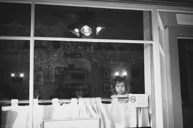 cute girl in restaurant