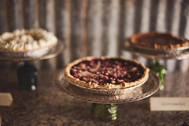 pecan pies at a wedding