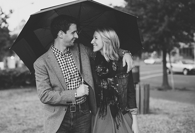 umbrella engagement photographs