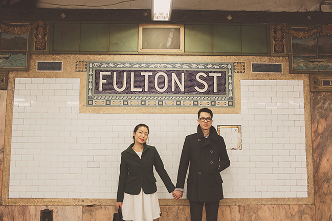 new york city subway portrait session