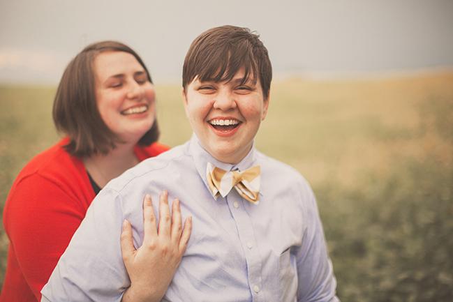 nessa k - lesbian engagement session