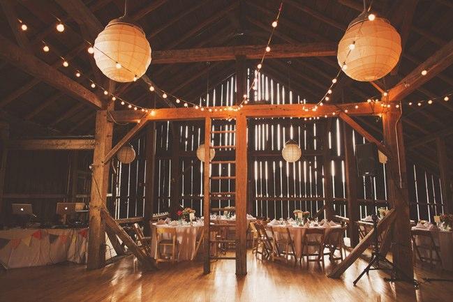string lights at the barn at fallingwater wedding barn wedding lights