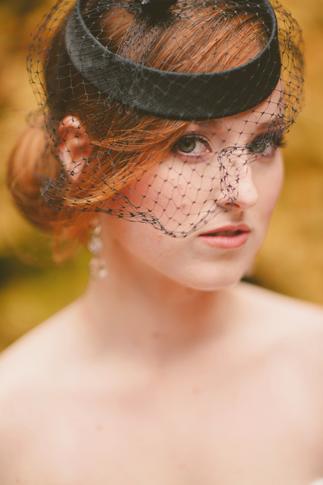black viel bride