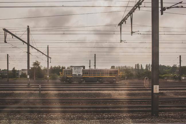 train ride into paris