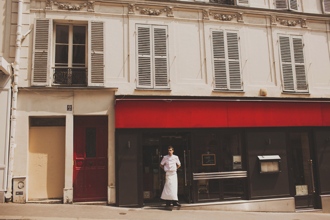 red storefront paris france
