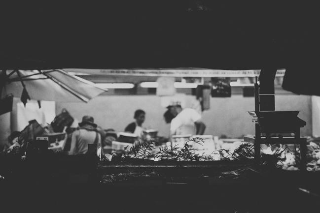 black and white paris market photos
