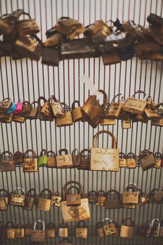 locks on bridge Pont de lArchevêché