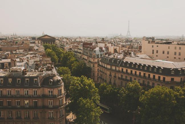 skyline in paris france