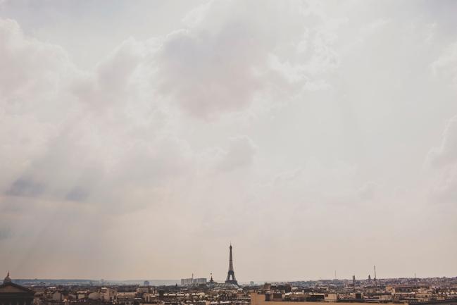 eiffel tower in skyline paris france