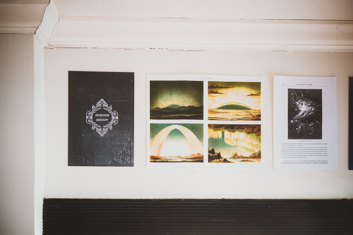 science prints on wall