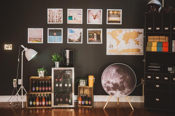 prints in photography studio