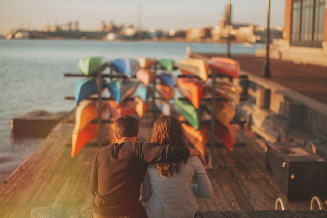 baltimore md engagement session with canoes