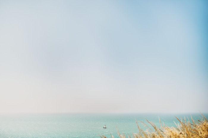 lone sailboat off french coast 33