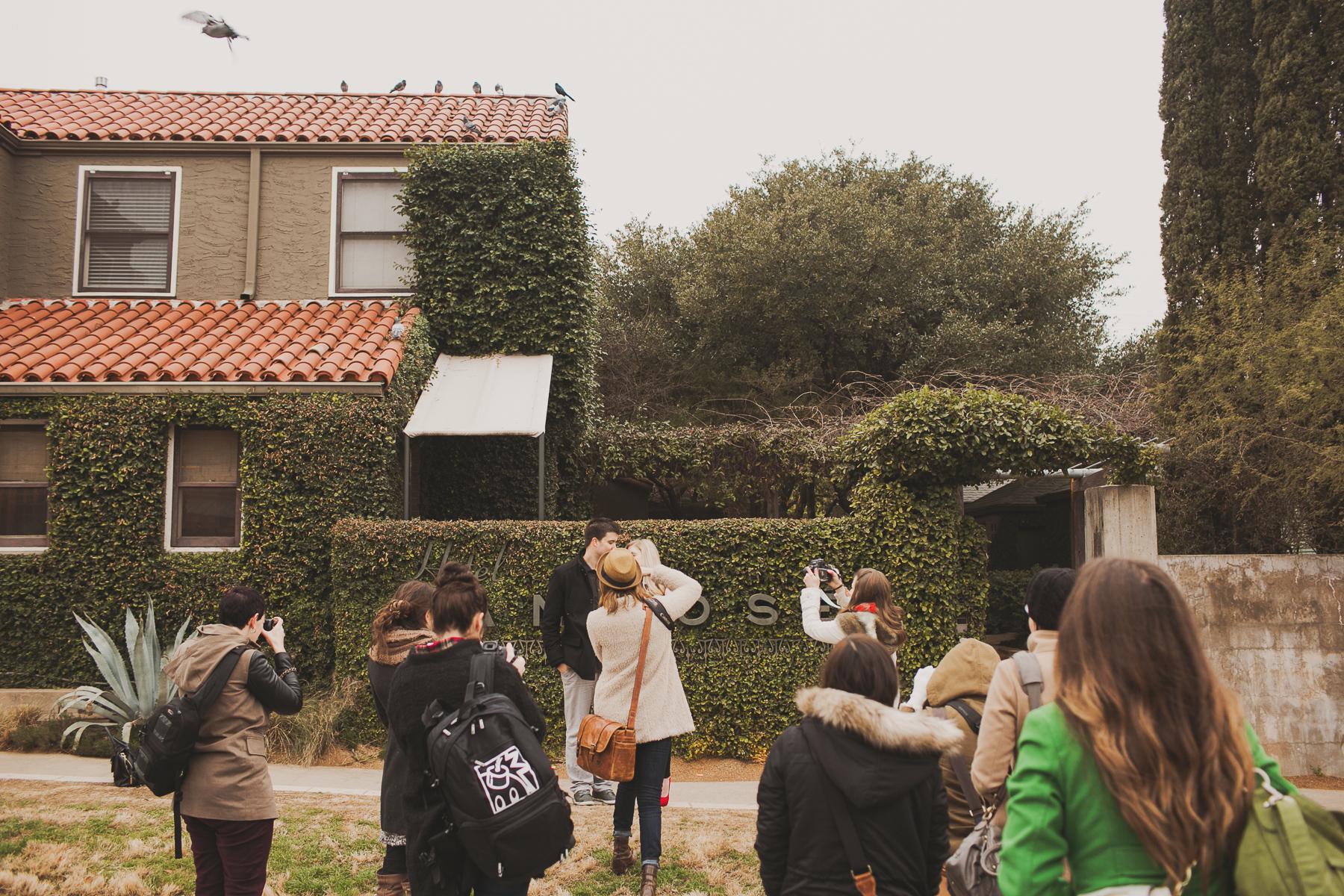austin tx wedding photography workshop in a field