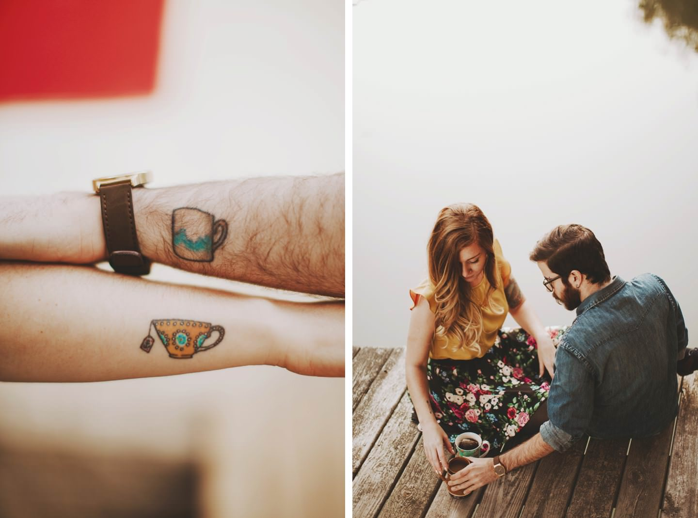 teacup tattoos engagement session