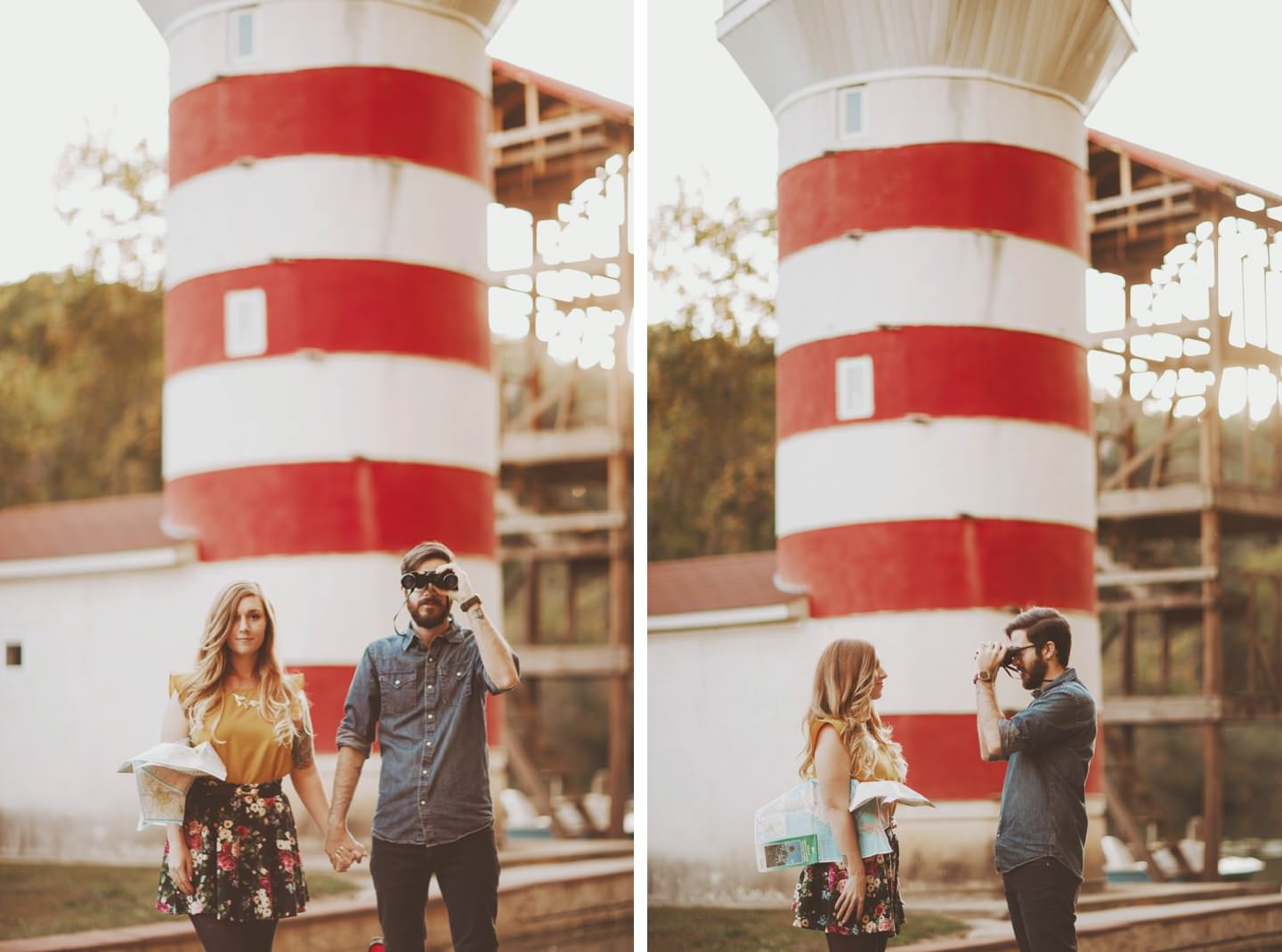 engagement pictures in front of lighthouse washington dc