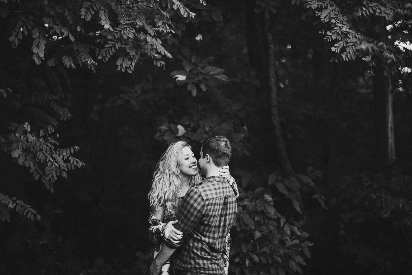 engagement session at a camp in maryland