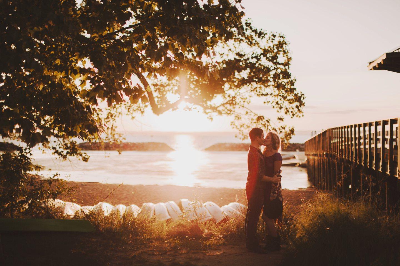 maryland sunset engagement photos