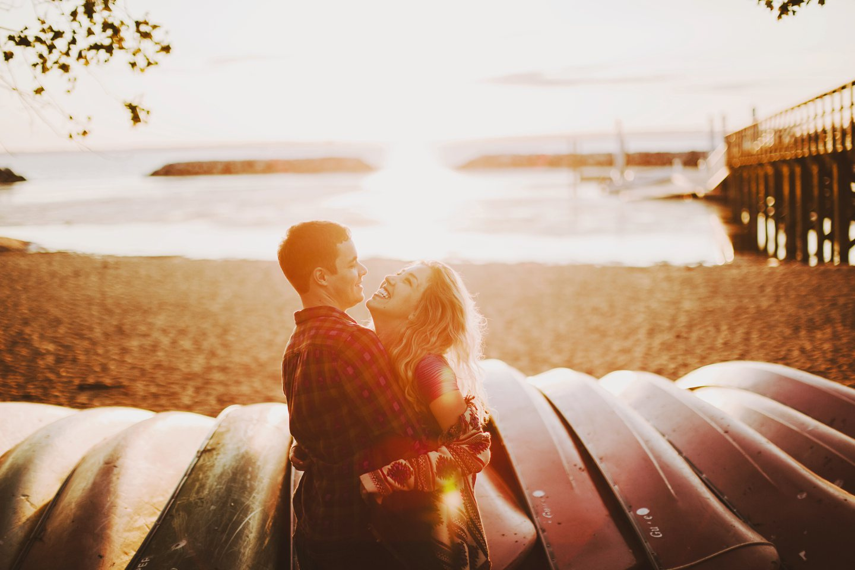 washington dc engagement photo on beach