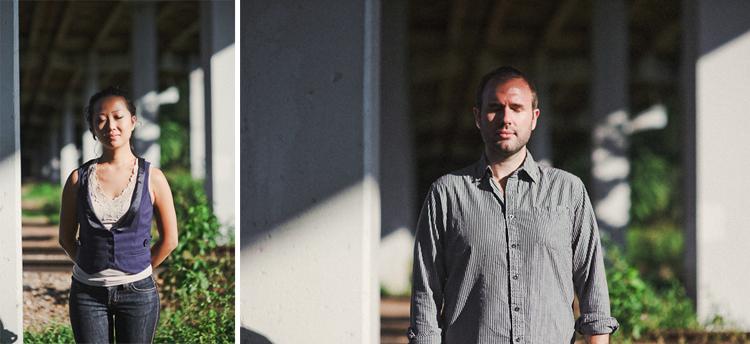minimalist dramatic engagement photos