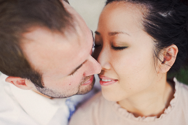 engagement photo kiss dc