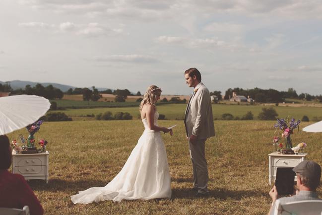 nessa k 16 backyard farm wedding maryland  Farm Wedding in Frederick MD: Katy and Parkers Backyard