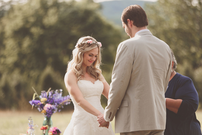 nessa k 17 farm ceremony in a backyard in frederick md Farm Wedding in Frederick MD: Katy and Parkers Backyard