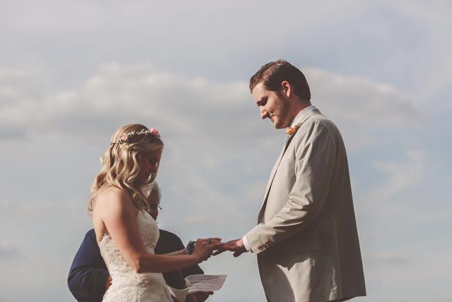 nessa k 20 frederick md backyward wedding ceremony Farm Wedding in Frederick MD: Katy and Parkers Backyard