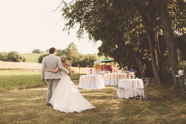 nessa k 21 grassy field ceremony maryland Farm Wedding in Frederick MD: Katy and Parkers Backyard